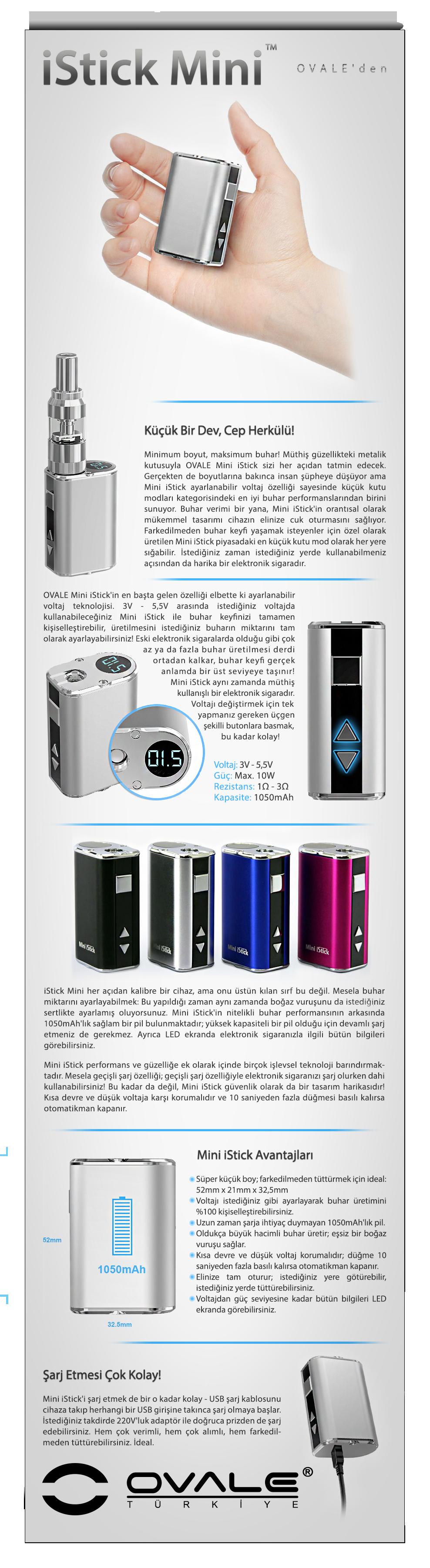 elektronik sigara, esigara, e, sigara, istick, ovale, eleaf, 10w