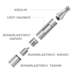 eGo CC Clearomizer (Gümüş) image 1