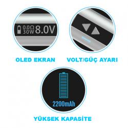 iStick 30W - Sub Ohm Kutu Pil (Gümüş) image 6
