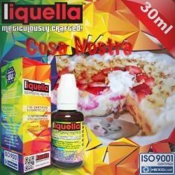 FRUITY Liquella 30ml Cosa Nostra (Taze Pişmiş Turta Kenarı, Muz, Çilek, Kırmızı Elma) 6mg image 1