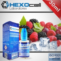 FRUITY HEXOcell / Natura 30ml Frozen Fruits (Kuşburnu, Ahududu, Frenk Üzümü, Böğürtlen, Yaban Mersini, Mentol) 3mg image 1