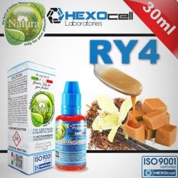 TOBACCO HEXOcell / Natura 30ml RY4 (Orta Sertlikte Tütün, Karamel, Vanilya, Fındık) 6mg image 1
